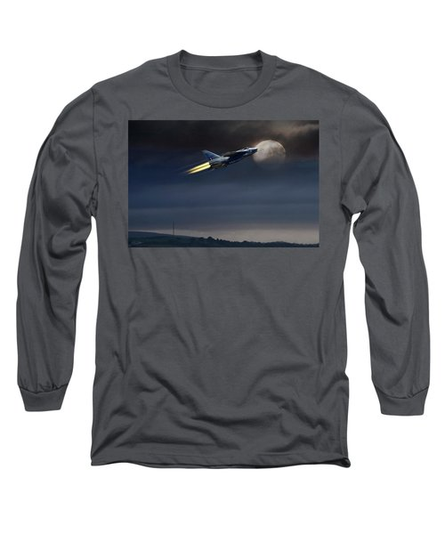 Long Sleeve T-Shirt featuring the digital art Heat Of The Night by Peter Chilelli