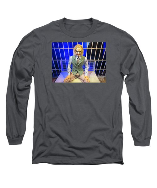 Heath Ledger As The Joker Long Sleeve T-Shirt by John Malone