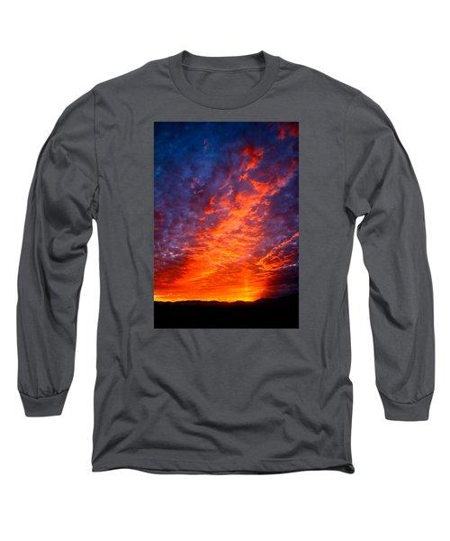 Heavenly Flames Long Sleeve T-Shirt by Paul Marto