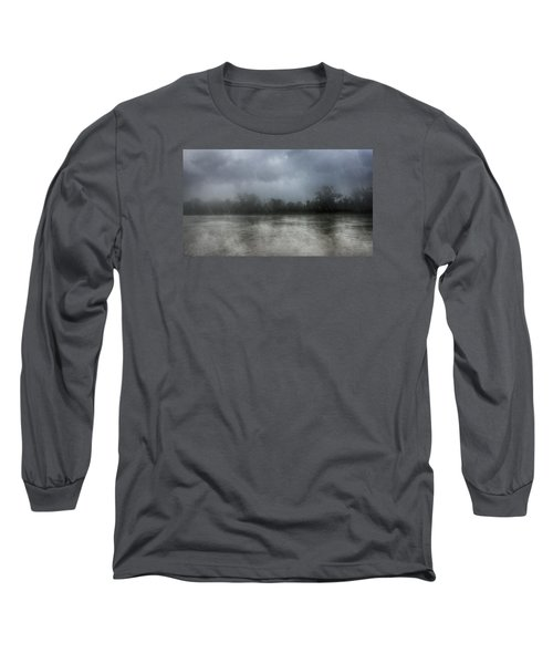 Heavy Rain Over A River Long Sleeve T-Shirt