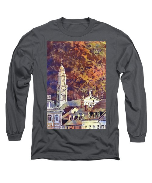 Long Sleeve T-Shirt featuring the painting Heidelberg Evening by Ryan Fox