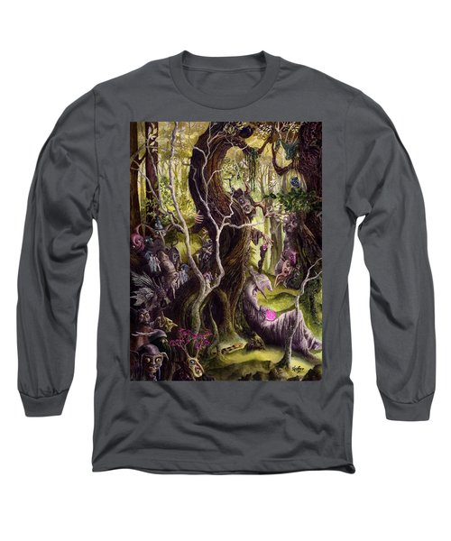 Long Sleeve T-Shirt featuring the painting Heist Of The Wizard's Staff by Curtiss Shaffer