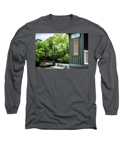 Long Sleeve T-Shirt featuring the photograph Helena Sign By Buck Creek by Parker Cunningham
