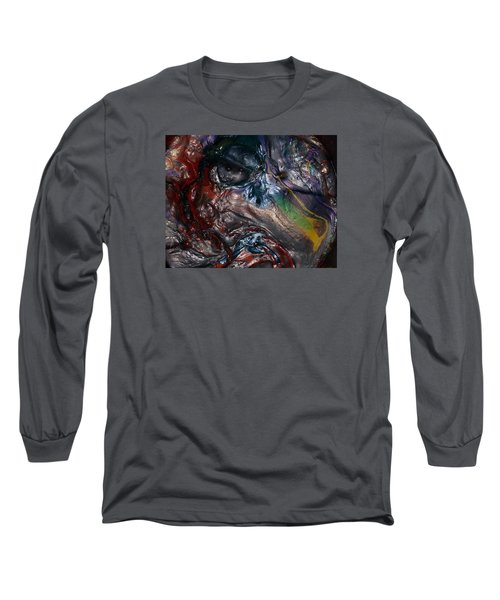 Helicopter Blade Smile Long Sleeve T-Shirt by Gyula Julian Lovas