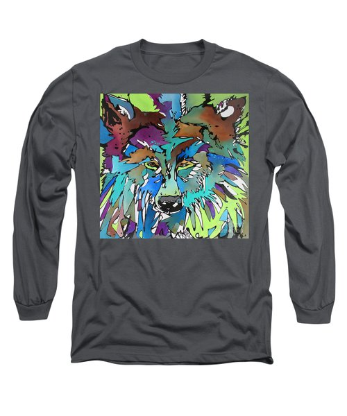 Long Sleeve T-Shirt featuring the painting Hell-bent by Nicole Gaitan