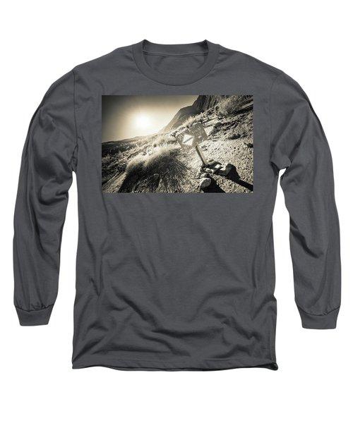 Hellhole Canyon Warning Long Sleeve T-Shirt