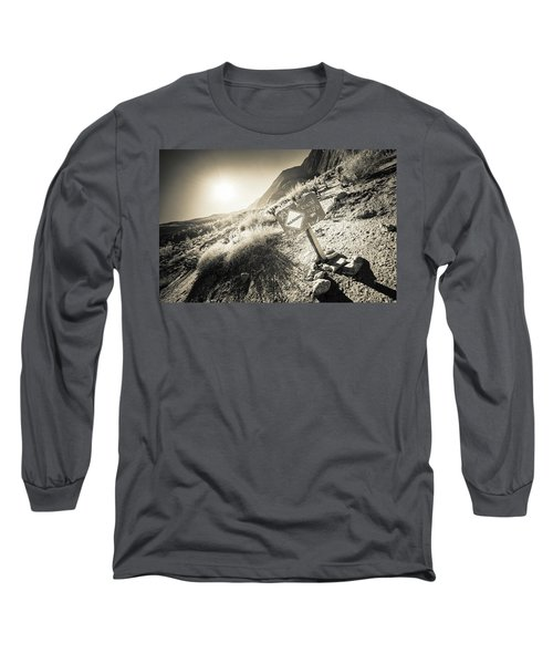 Hellhole Canyon Warning Long Sleeve T-Shirt