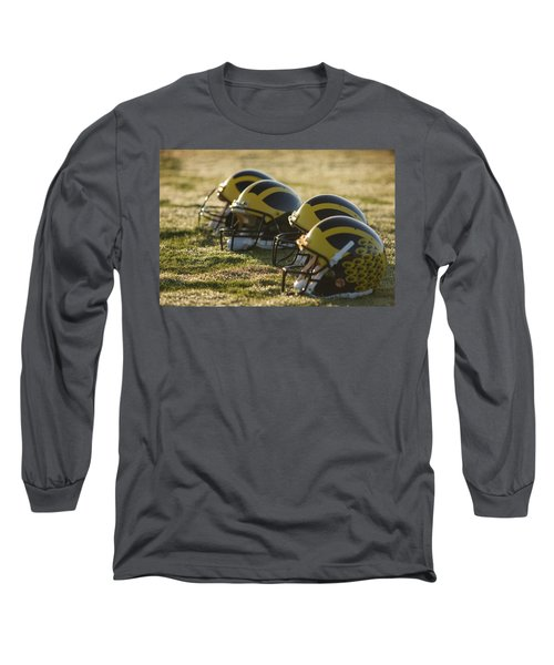 Helmets On The Field At Dawn Long Sleeve T-Shirt