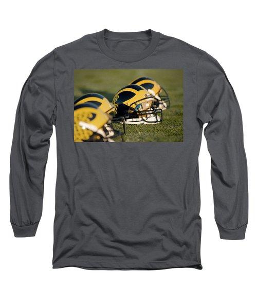 Helmets On The Field Long Sleeve T-Shirt