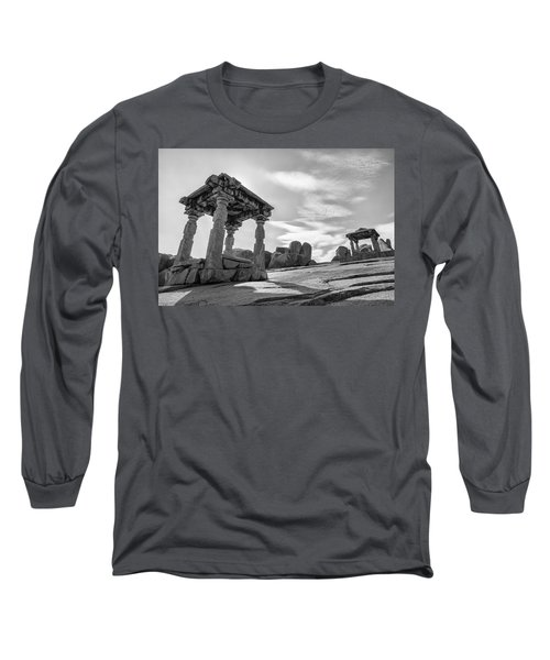 Long Sleeve T-Shirt featuring the photograph Hemakuta Hill, Hampi, 2017 by Hitendra SINKAR