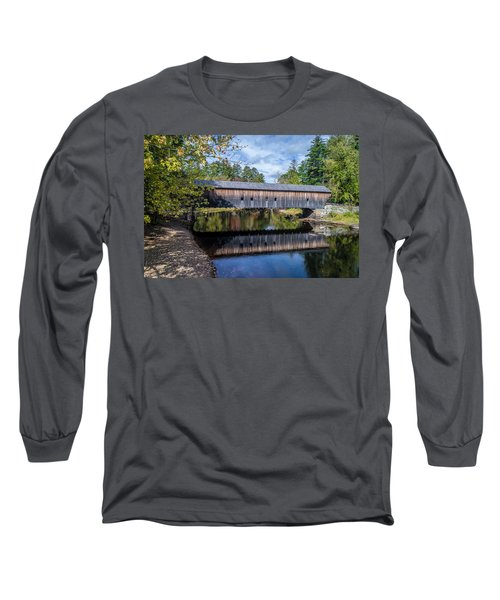 Hemlock Covered Bridge Long Sleeve T-Shirt