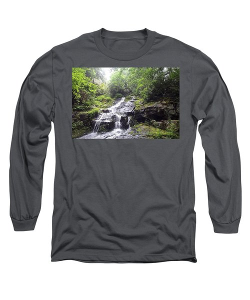 Hen Wallow Falls Great Smoky Mountains National Park Long Sleeve T-Shirt