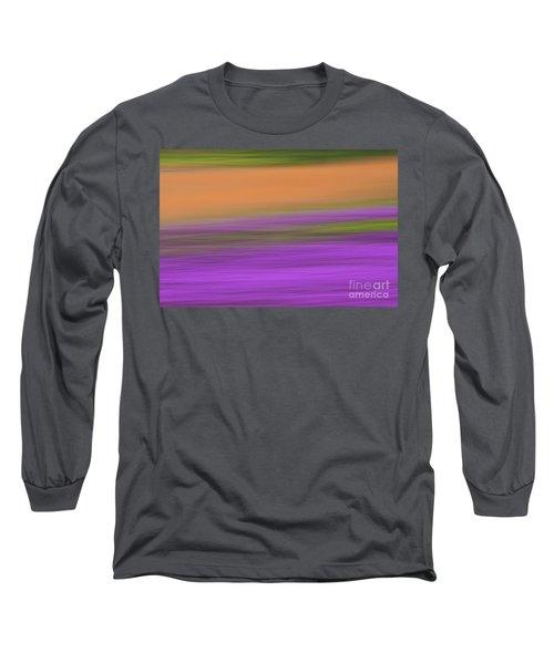Long Sleeve T-Shirt featuring the photograph Henbit Abstract - D010049 by Daniel Dempster