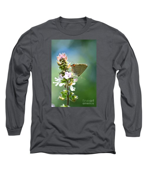 Herb Visitor Long Sleeve T-Shirt by Debbie Green