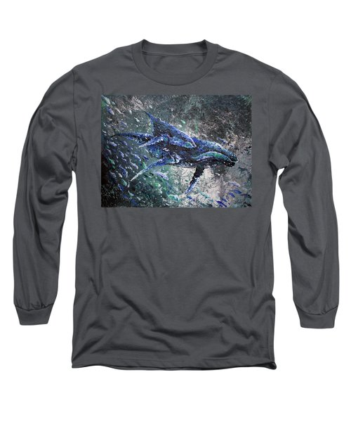 Long Sleeve T-Shirt featuring the painting Herding by William Love