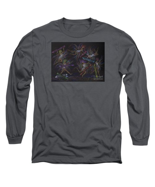Here We Go A Coloring... Long Sleeve T-Shirt by Dawn Fairies