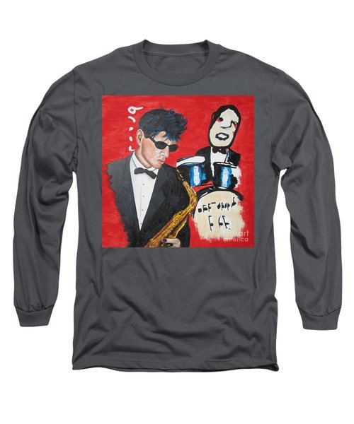 Herman Brood Jamming With His Art Long Sleeve T-Shirt by Jeepee Aero