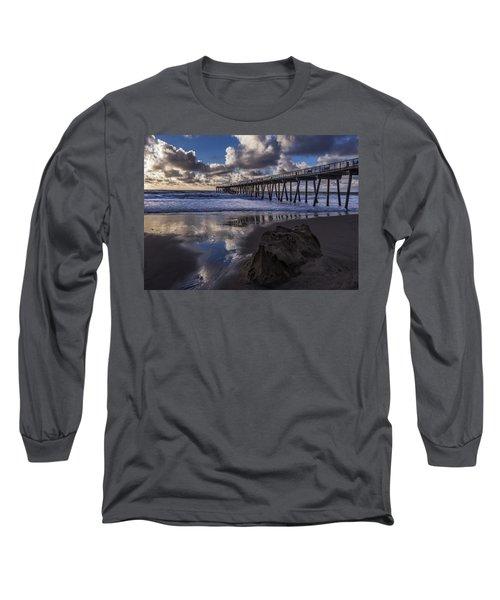 Hermosa Beach Pier Long Sleeve T-Shirt