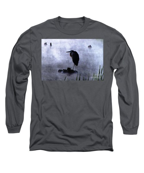 Heron 4 Long Sleeve T-Shirt by Melissa Stoudt