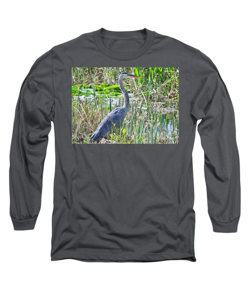Heron By The Riverside Long Sleeve T-Shirt