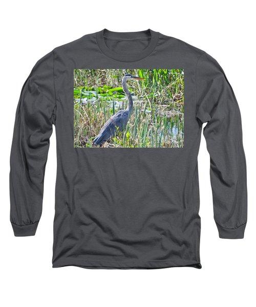 Heron By The Riverside Long Sleeve T-Shirt