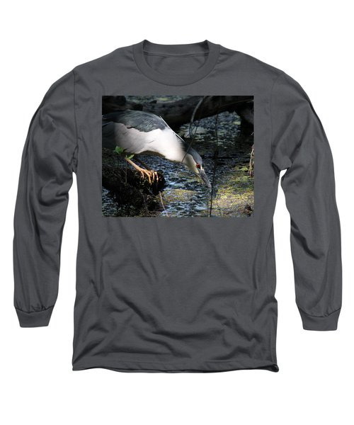 Long Sleeve T-Shirt featuring the photograph Heron In A Sun Beam by Doris Potter