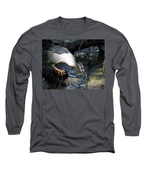 Heron In A Sun Beam Long Sleeve T-Shirt