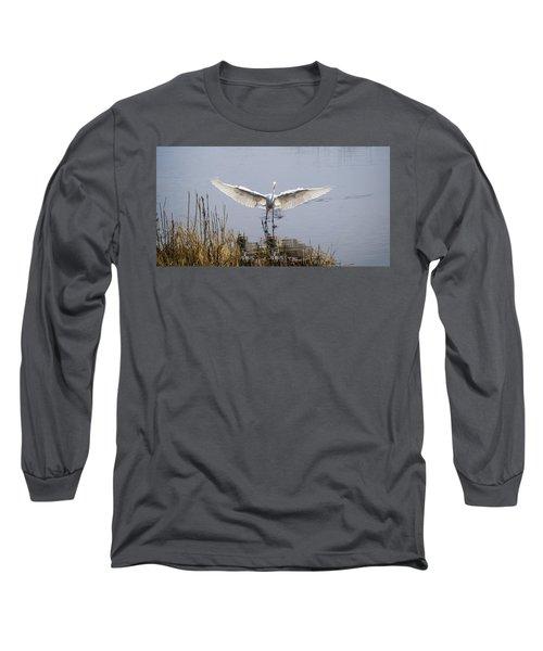 Heron Landing Long Sleeve T-Shirt