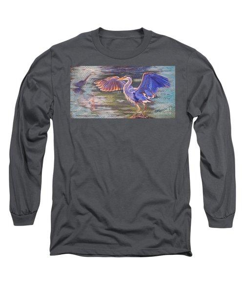 Heron Majesty Long Sleeve T-Shirt