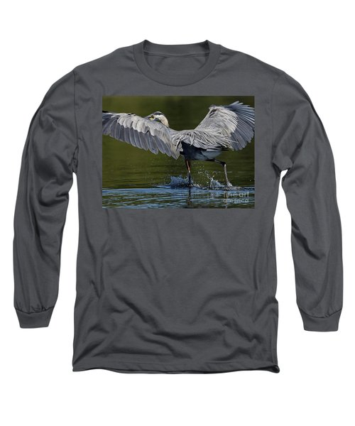 Heron On The Run Long Sleeve T-Shirt