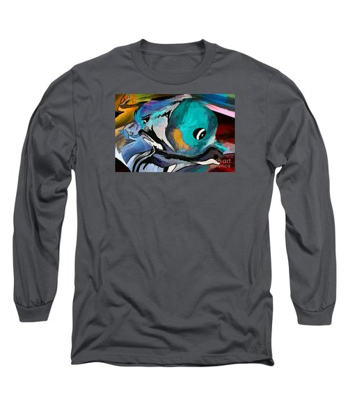 Hey Guy I Am Silly Willy The Fish Long Sleeve T-Shirt by Sherri's Of Palm Springs
