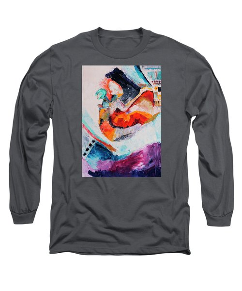 Long Sleeve T-Shirt featuring the painting Hey Mr. Spaceman by Stephen Anderson
