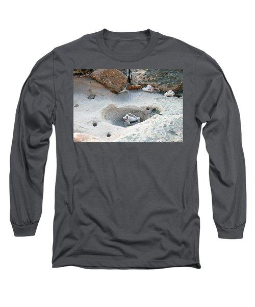 Hidden Shells On Bimini Beach Long Sleeve T-Shirt
