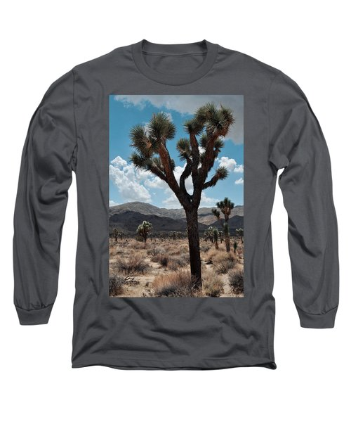 Hidden Valley Joshua Tree Portrait Long Sleeve T-Shirt by Kyle Hanson