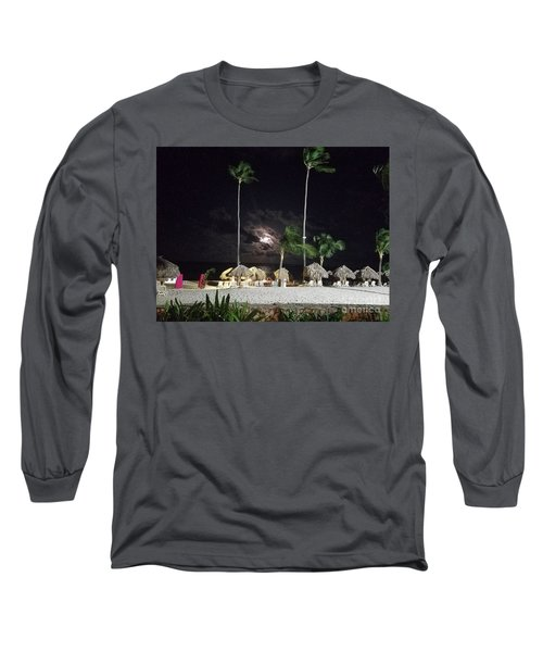 Hiding Moon Long Sleeve T-Shirt