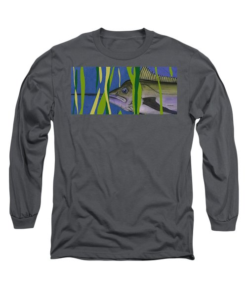 Long Sleeve T-Shirt featuring the mixed media Hiding Spot by Andrew Drozdowicz