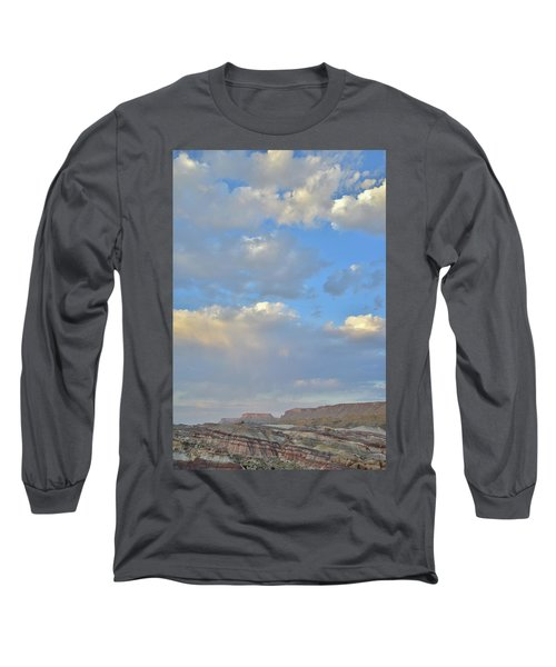 High Clouds Over Caineville Wash Long Sleeve T-Shirt