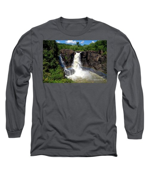 High Falls On Pigeon River Long Sleeve T-Shirt
