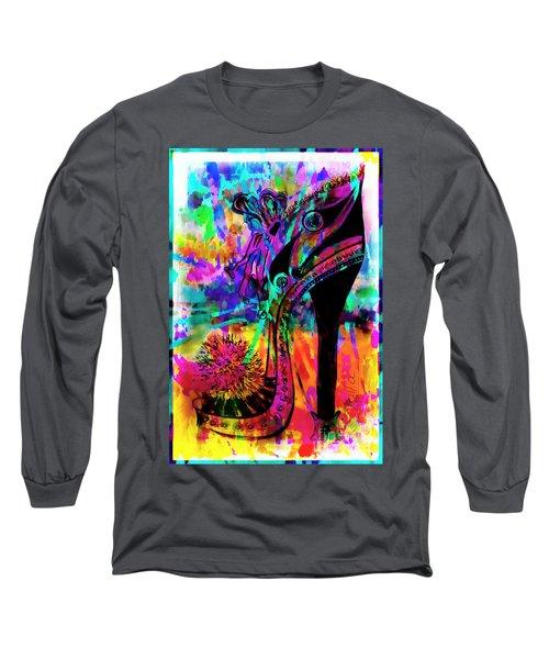 High Heel Heaven Abstract Long Sleeve T-Shirt