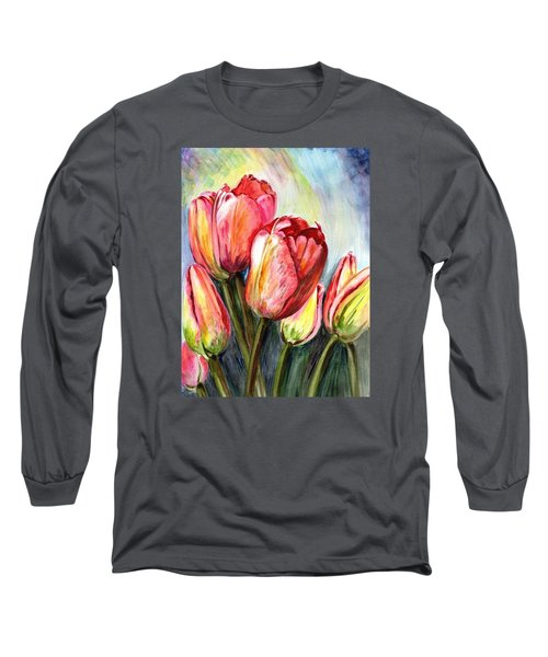 Long Sleeve T-Shirt featuring the painting High In The Sky by Harsh Malik