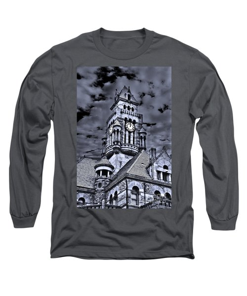 Long Sleeve T-Shirt featuring the photograph High Noon Black And White by Tamyra Ayles