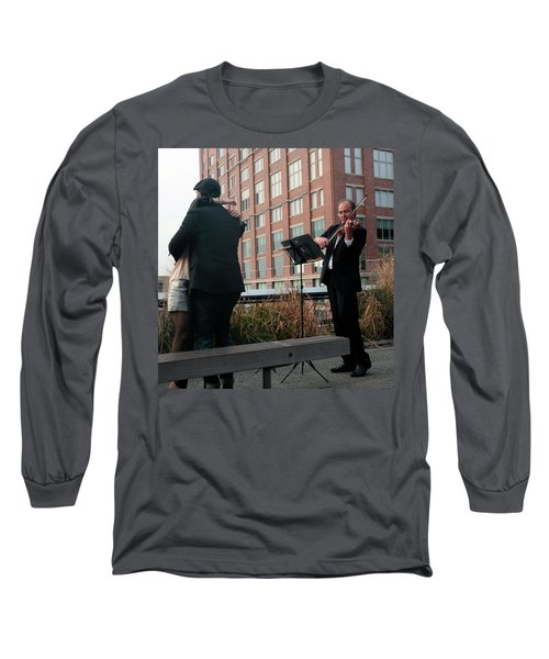 Long Sleeve T-Shirt featuring the photograph Highline Serenade by Madeline Ellis