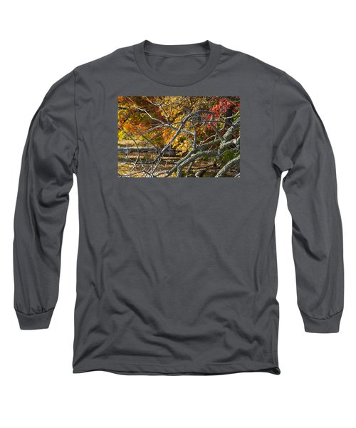 Highly Textured Branches Against Autumn Trees Long Sleeve T-Shirt