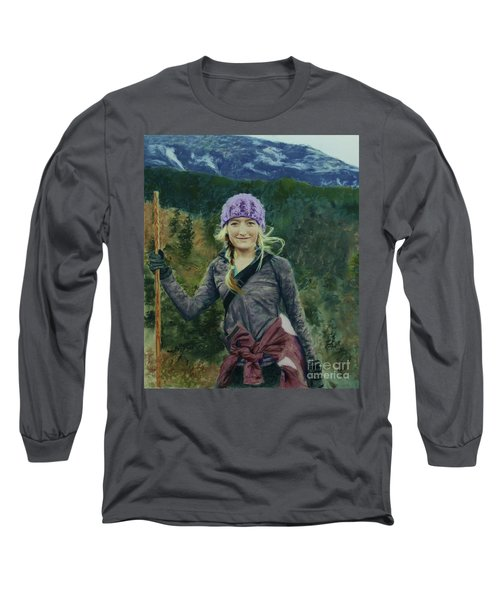 Hiking The White Mountains Long Sleeve T-Shirt