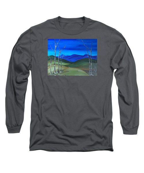 Hill View Long Sleeve T-Shirt by Pat Purdy