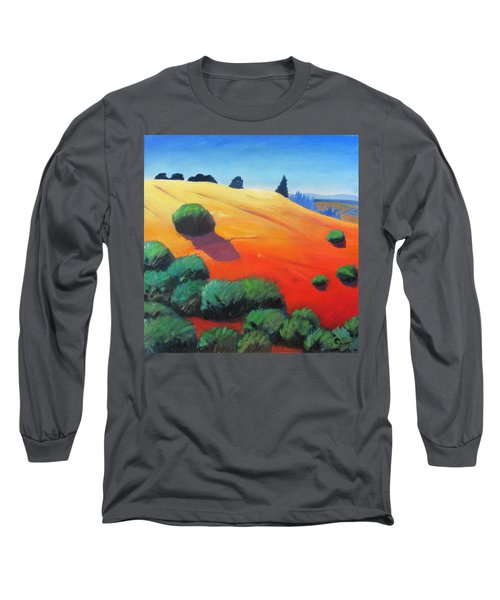 Long Sleeve T-Shirt featuring the painting Hills And Beyond by Gary Coleman