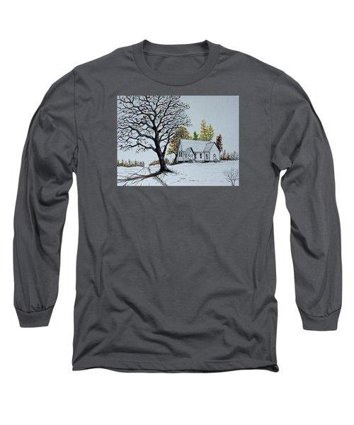 Hilltop Church Long Sleeve T-Shirt by Jack G  Brauer