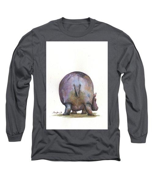 Hippo Back Long Sleeve T-Shirt