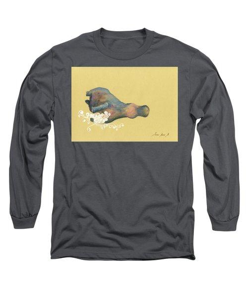 Hippo Swimming Long Sleeve T-Shirt