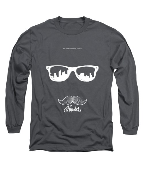 Hipster Neither Lost Nor Found Long Sleeve T-Shirt by BONB Creative